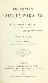 Sainte-Beuve - Portraits contemporains, t1, 1869.djvu