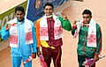 Sajan Prakash (INDIA) won Gold Medal, KT Cherantha De Silva (SRI LANKA) won Silver Medal and MD Juwel Ahmed (BANGLADESH) won Bronze Medal, in the Men's swimming 200m Butterfly category, at the 12th South Asian Games-2016.jpg