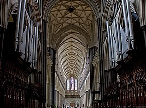 Bernard Rose (musician) - Salisbury Cathedral Organ, where Rose began his musical studies