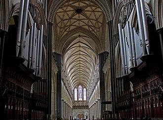 Bernard Rose (musician) - Salisbury Cathedral Organ, where Rose began his musical studies