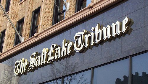Marquee of The Salt Lake Tribune on the Tribune Building in Downtown Salt Lake City Salt Lake Tribune marquis.jpg