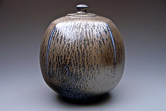 Salt glaze pottery - Modern salt-glazed porcelain piece
