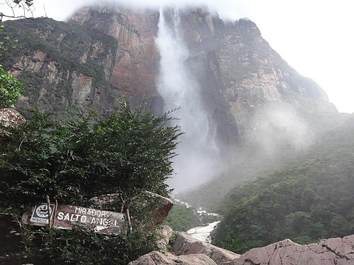 Salto Angel Falls Canaima Bolivar Venezuela