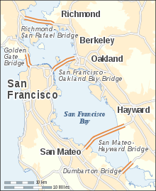 San Francisco Bay Bridges map en.svg