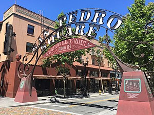 San Pedro Square sign