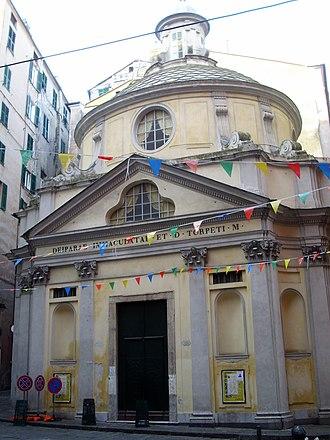 San Torpete - The façade of the church.