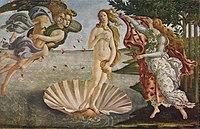 ヴィーナスの誕生(1485年頃、ウフィツィ美術館)