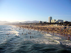 Downtown Santa Monica, as seen from the Santa Monica Pier.