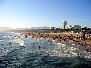 Am Santa Monica Beach