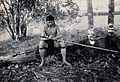 Sarawak; a Kenyah native tying a spearhead to a blowpipe. Ph Wellcome V0037405EL.jpg