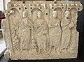 Sarcofago della consegna della legge, 370-400 ca, da mausoleo degli anicii sotto s. pietro in vaticano, 03.JPG