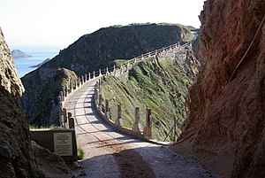Little Sark - La Coupée is the narrow isthmus which links Greater and Little Sark
