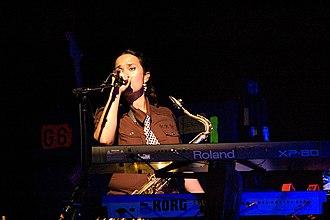 Scheila Gonzalez - Gonzalez performing on the Zappa Plays Zappa tour