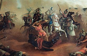 Frederick the Fair - Frederick's capture at Mühldorf (19th century depiction)