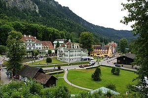 Schwangau - View of the village (Hohenschwangau)