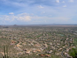 View of suburban development in Scottsdale