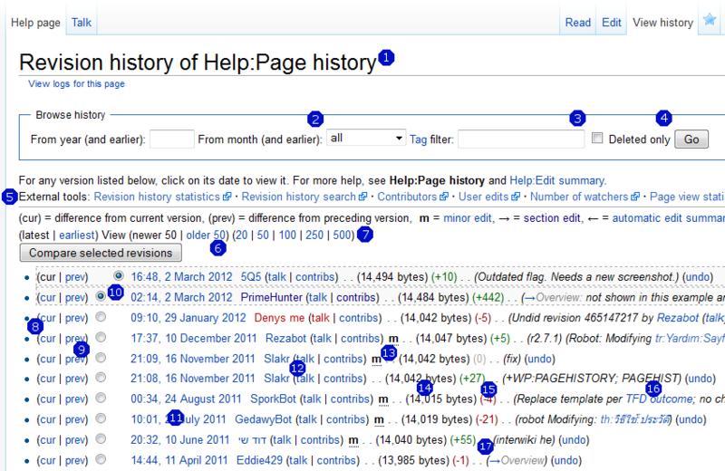 File:Screenshot page history MediaWiki 1 19.xcf