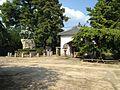 Sculpture of Takasugi Shinsaku's coup d'état and warehouse of sutras in Kozanji Temple.JPG
