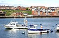 Sea-angling boats moored in the Tyne (geograph 2367404).jpg