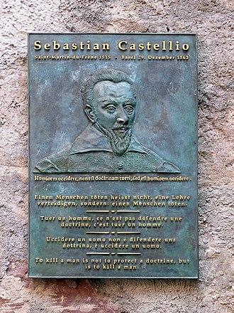 Sebastian Castellio - Commemorative plaque in Basel