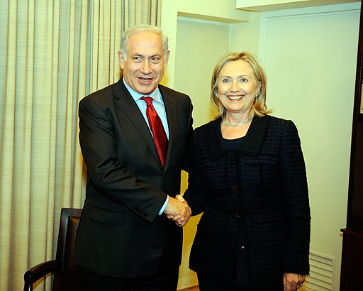 Secretary Clinton Is Greeted By Israeli President Netanyahu (4993764618)