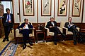 Secretary Kerry, Ambassador Baucus, and Senior Aide Meininger Read Materials During a Break Amid the U.S.-China Strategic and Economic Dialogue in Beijing (26936564033).jpg