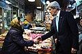 Secretary Kerry Greets South Korean Woman (12499378515).jpg