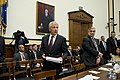 Secretary of Defense, Chuck Hagel arrives to testify before the House Armed Services Committee on the fiscal year 2014 National Defense Authorization Budget Request at the Rayburn House Office Building in Washington D.C..jpg