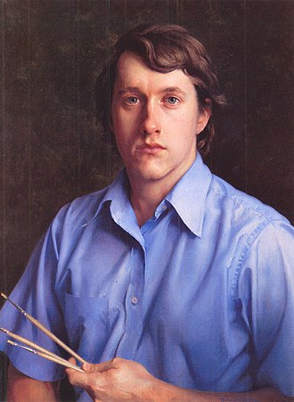 "Richard Whitney (artist) - ""Self Portrait"", oil, 26 x 20, 1973.  Collection: Newark Museum"
