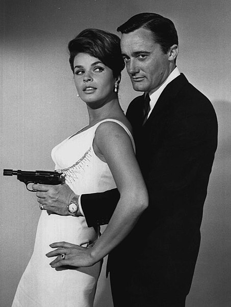 File:Senta Berger Robert Vaughn Man From Uncle 1964.JPG