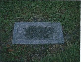 Marjorie Cameron - The grave of Cameron's partner Sheridan Kimmel at Lakeside Memorial in Doral, Florida