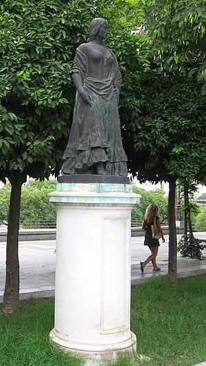 Carmen (novella) - Statue of Carmen on the Paseo Alcalde Marqués de Contadero, Seville