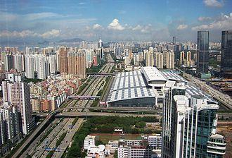 Shenzhen Convention and Exhibition Center - Shenzhen Convention and Exhibition Center viewed from above