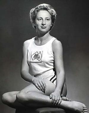 Shirley Strickland - Shirley Strickland aged 23