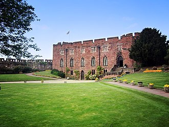 Shrewsbury - Shrewsbury Castle was built around 1074 by Roger de Montgomery. Today the Castle is home to the Shropshire Regimental Museum.