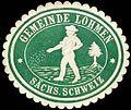 Siegelmarke Gemeinde Lohmen - Sächsische Schweiz W0252668.jpg