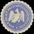 Siegelmarke K.Pr. 3te Feld-Artillerie-Brigade W0370690.jpg