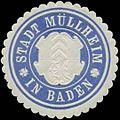 Siegelmarke Stadt Müllheim in Baden W0349311.jpg