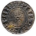 Silver penny of William the Conqueror (YORYM 2000 1366) reverse.jpg