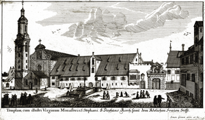 St. Stephen's Abbey, Augsburg - Church and monastery in 1683