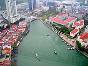 Singapur-Fluss aus der Vogelperspektive