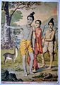 Sita longs for the golden deer, in a print from the Ravi Varma Press, c.1910's.jpg