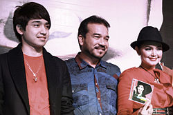 Siti Nurhaliza with her husband, Datuk Seri Khalid and her stepson
