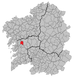 Location of Cuntis within Galicia