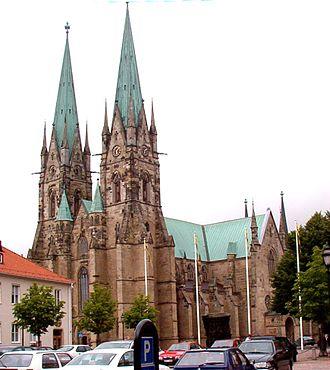 Skara - Skara Cathedral in central Skara, 2005