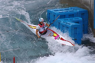 Canoeing at the 2012 Summer Olympics – Women's slalom K-1 - Image: Slalom canoeing 2012 Olympics W K1 ESP Maialen Chourraut