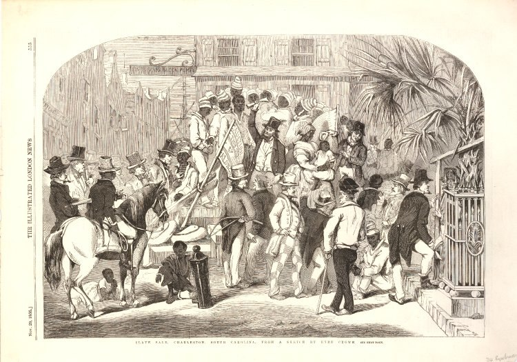 Slave sale Charleston South Carolina
