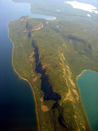 Sleeping Giant Provincial Park - Aerial view of the Sleeping Giant