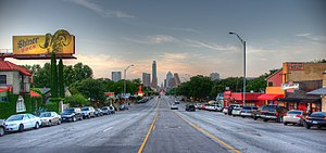 South Congress - South Congress Avenue leads directly into downtown Austin.