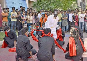 Riviera (festival) - Street Play against child labour, female foeticide and child trafficking